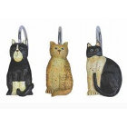 Country Cats Shower Hooks