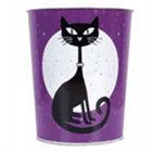 Black Cat Wastebasket