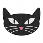 Retro Black Cat Bath Mat