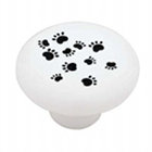Paw Print Ceramic Drawer Pulls