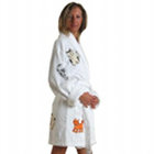 Cat Appliqued Bathrobe