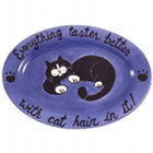 Everything Tastes Better with Cat Hair Serving Platter