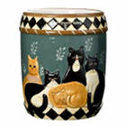 Country Cats Utensil Holder