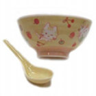 Porcelain Rice Bowl & Spoon
