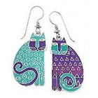 Elijah Cat Teal Drop Earrings