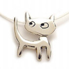 Catitude Silver Charm Necklace
