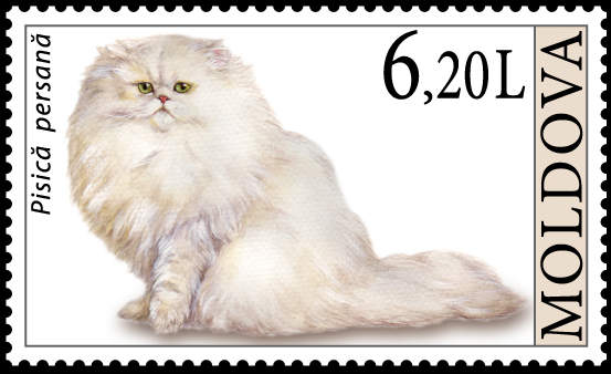 Moldova Cat Stamp