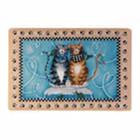 Meow Cat Cushioned Kitchen Mat