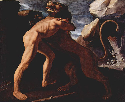 Hercules Kills the Lion of Nemea